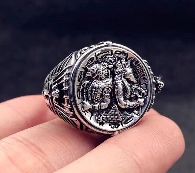 Anubis horus silver open ring - Xingjewelry