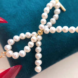 Fresh water pearl sweater necklace waist band