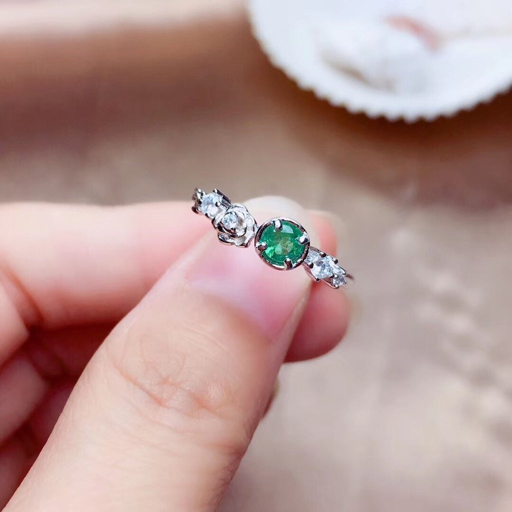 925 sterling silver tourmaline stone ring