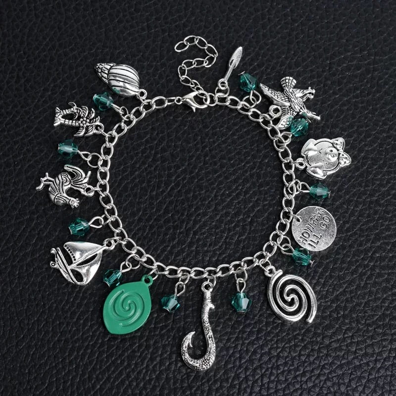 Alloy metal sea blue theme charm bracelet - Xingjewelry