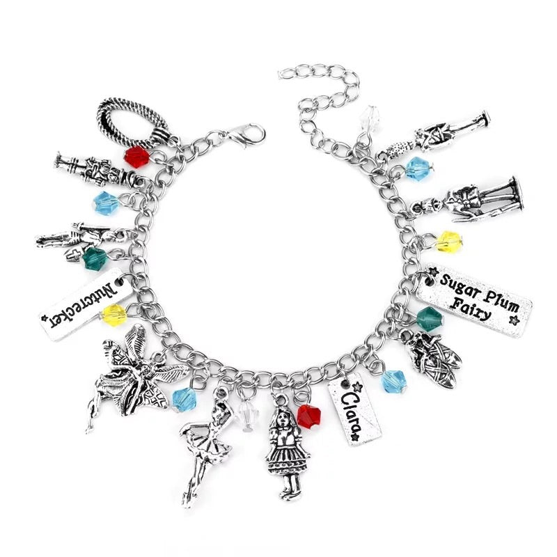 Alloy metal dressed girl charm bracelet - Xingjewelry