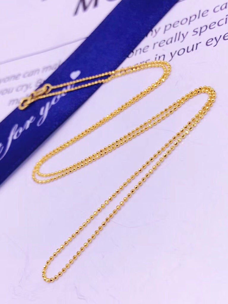 Fashion 18 gold k beaded simple necklace 40-65 cm