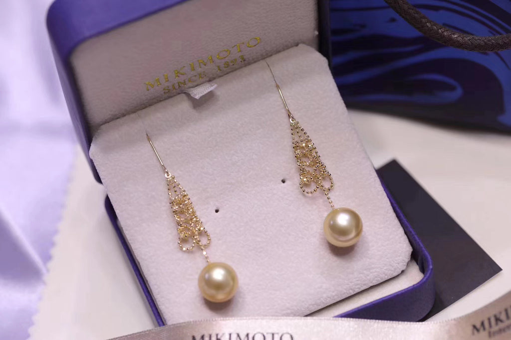 18k gold pearl palace tree earring Christmas tree