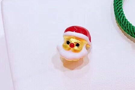 24k gold Santa Claus Christmas charm - Xingjewelry