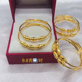 999 solid gold push bangle a pair 2 pcs