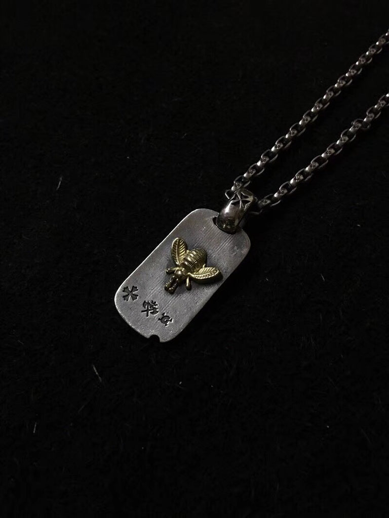 Gaboratory honey bee tag pendant - Xingjewelry