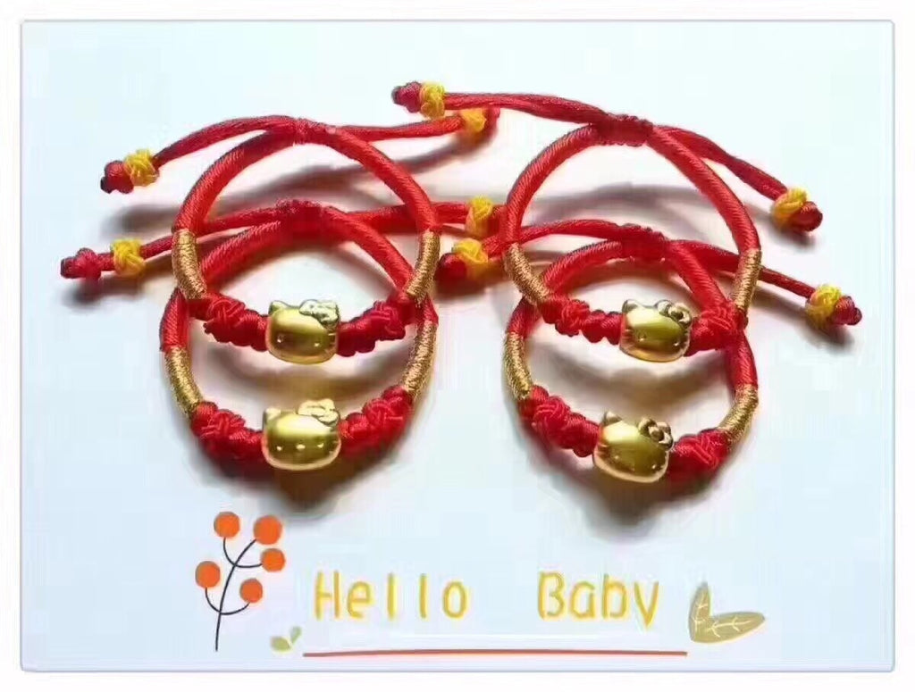 18k gold hello kitty baby red bracelet - Xingjewelry
