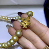 24k gold south sea pearl bead necklace mixed luxury color - Xingjewelry
