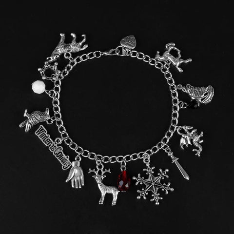 Alloy metal Game of throne charm bracelet - Xingjewelry