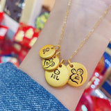 18k gold mouse Chinese new 2020 year mouse 鼠 吊牌 pendant necklace