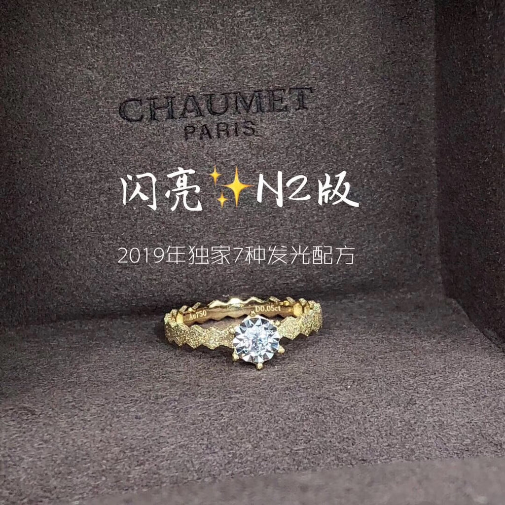 18k gold diamond ring wedding ring engagement ring - Xingjewelry