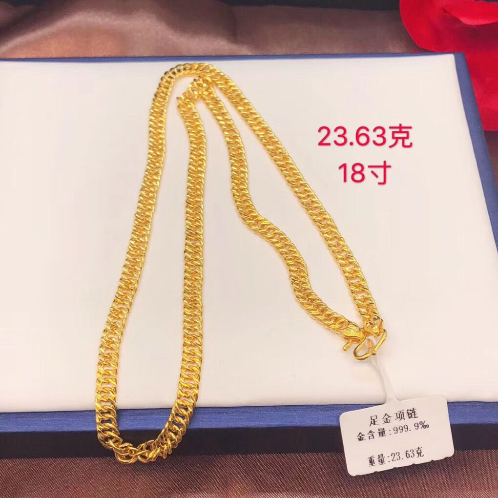 999 gold chain necklace for man woman
