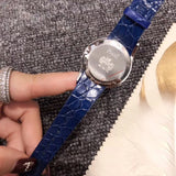 Piaget lime light leather belt quartz watch blue belt