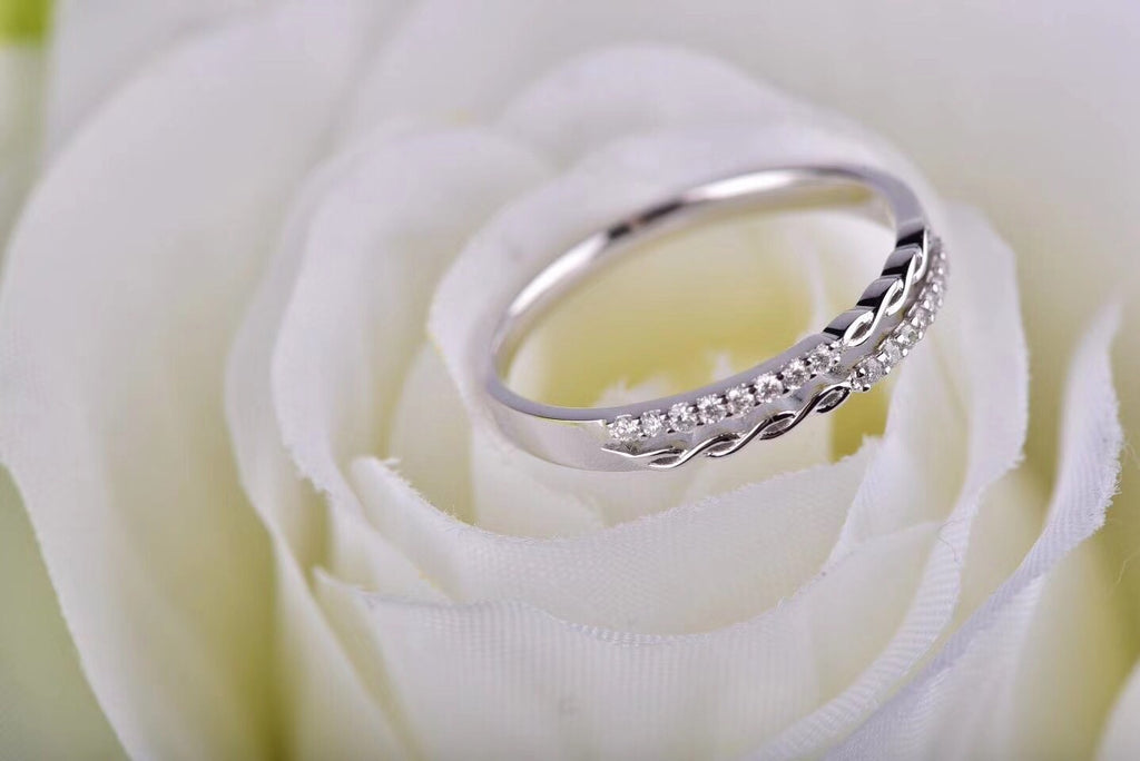 18k white gold diamond ring - Xingjewelry