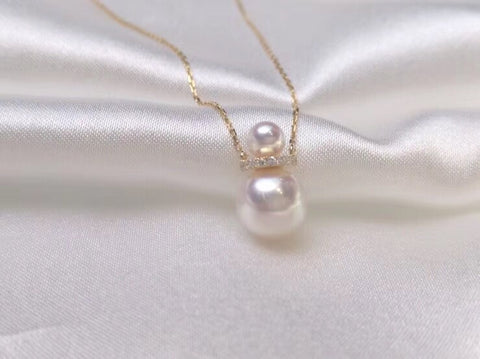 18k gold guard pearl necklace - Xingjewelry