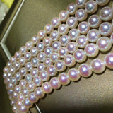 18k gold akoya pearl necklace - Xingjewelry