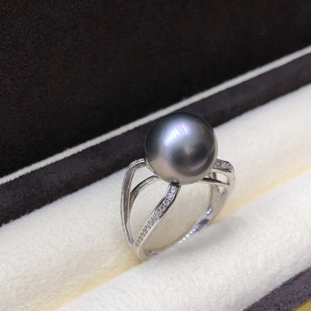925 sterling silver Tahiti pearl ring