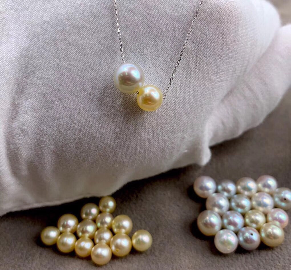 18k gold pearl necklace - Xingjewelry