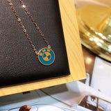 18k gold gold BMW pendant necklace - Xingjewelry