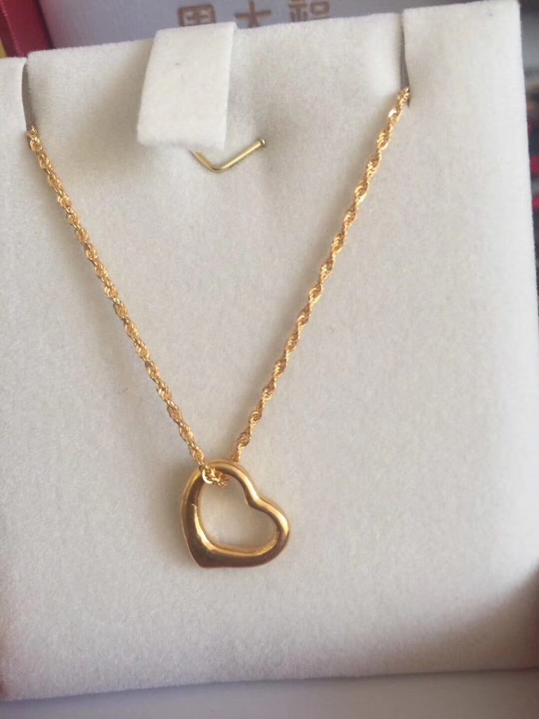 18k gold heart pendant necklace - Xingjewelry