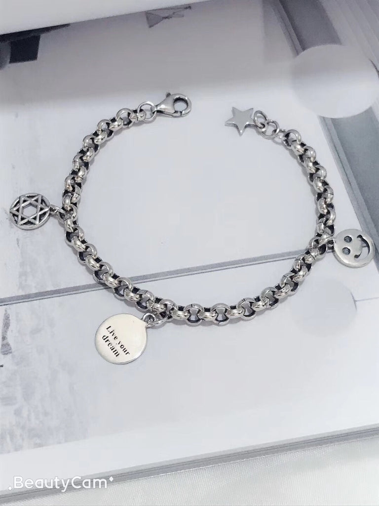 925 sterling silver live you dream bracelet