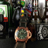 Panerai bronze genuine leather belt automatic watch