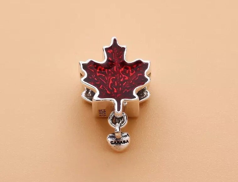 Pandora maple leaf charm