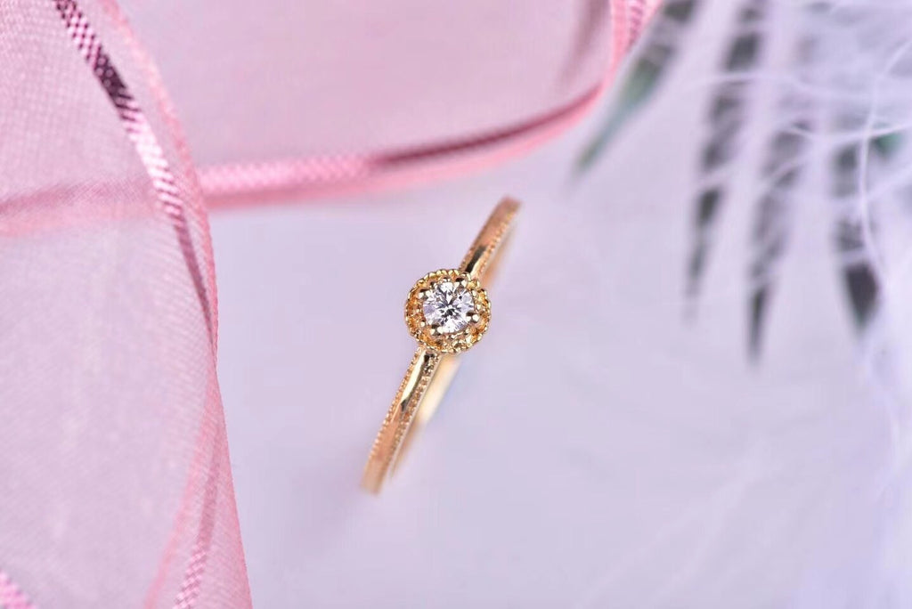 18k gold diamond ring - Xingjewelry