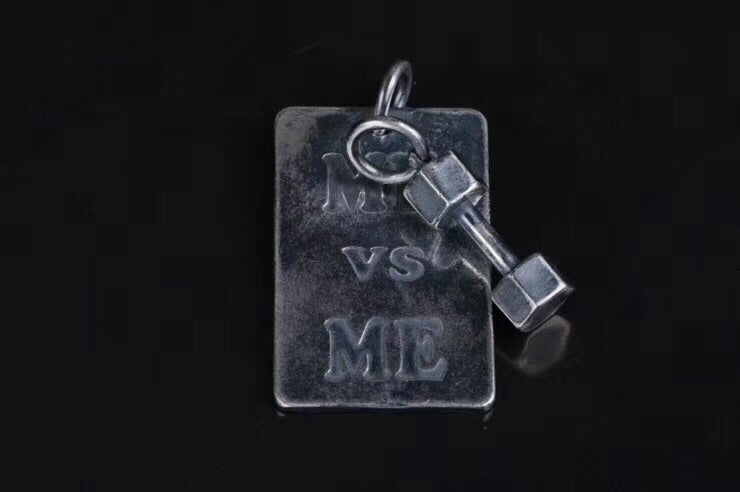 Sterling silver me vs me pendant necklace