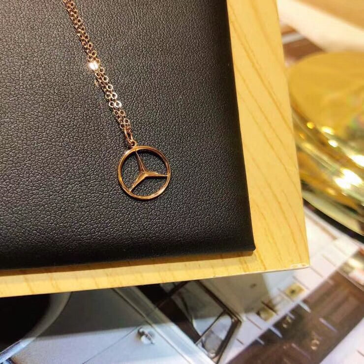 18k gold Benz pendant necklace - Xingjewelry