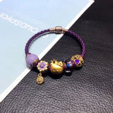 Solid gold hello kitty charm bracelet
