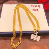 999 gold man chain necklace