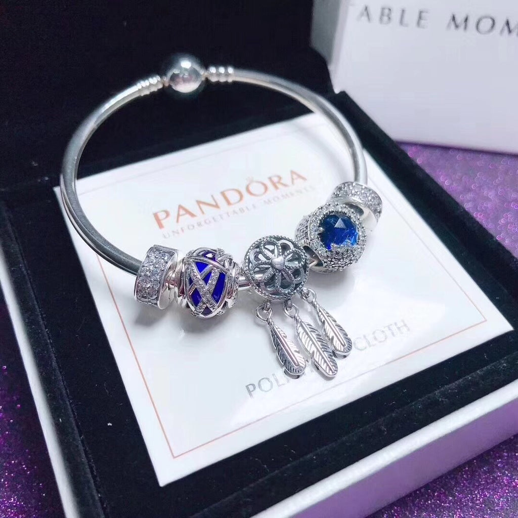 Pandora blue theme bangle bracelet
