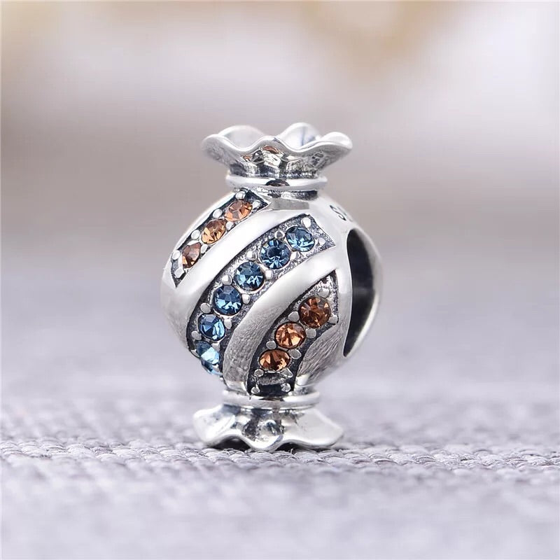 925 sterling silver candy charm - Xingjewelry