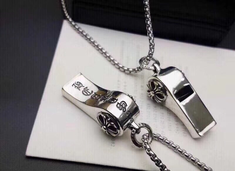 925 sterling silver chrome whistle pendant necklace - Xingjewelry