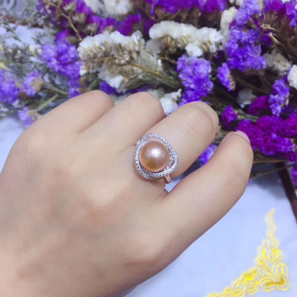 Pure 925 sterling pearl ring