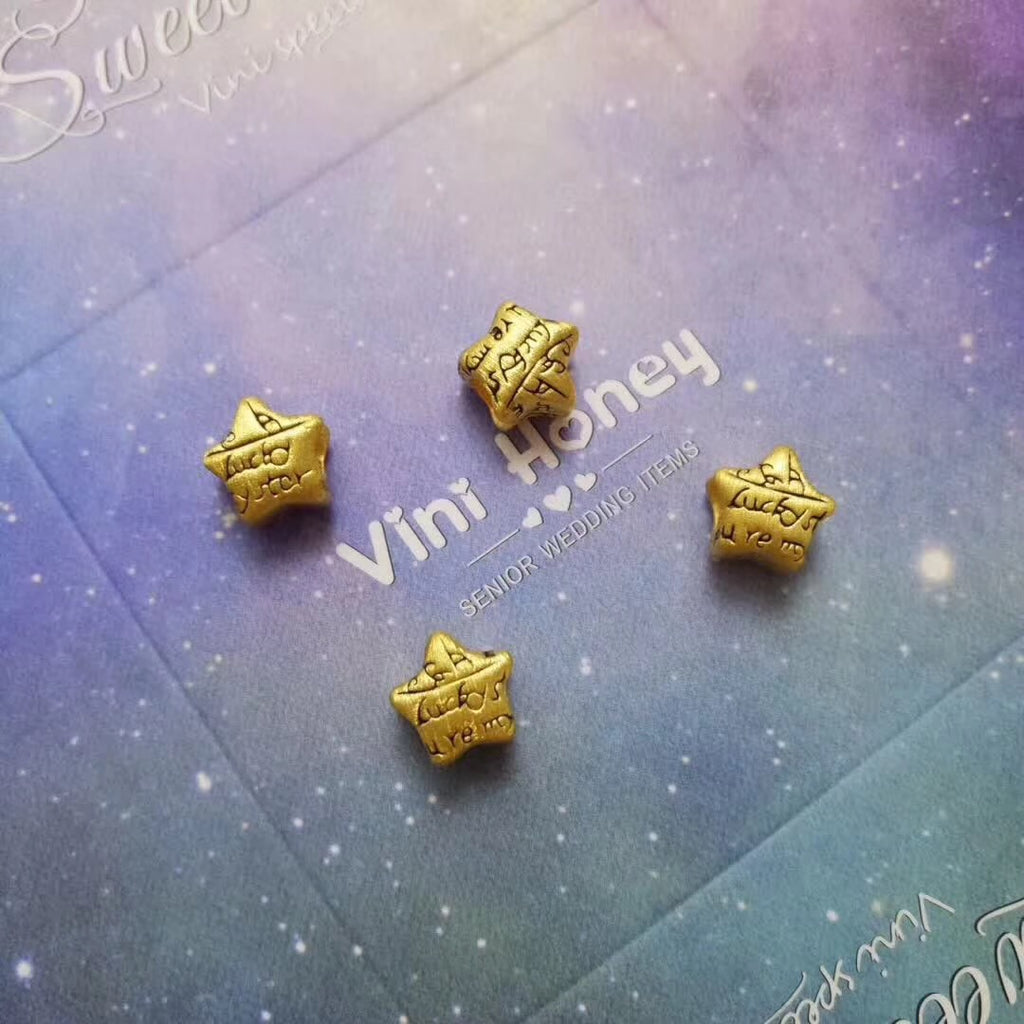 24k gold lucky star charm for bracelet necklace - Xingjewelry