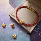 24k pure gold lucky star charm bracelet - Xingjewelry