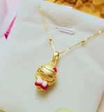 little girl 24k gold pendant for necklace/bracelet - Xingjewelry