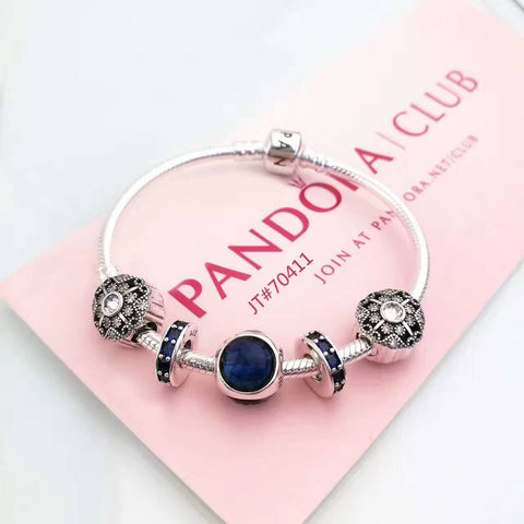 Authentic pandora bracelet with 5 pcs charms - Xingjewelry