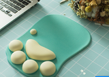 MOUSE PAD WITH WRIST SUPPORT CAT PAW SOFT SILICONE CUSHION