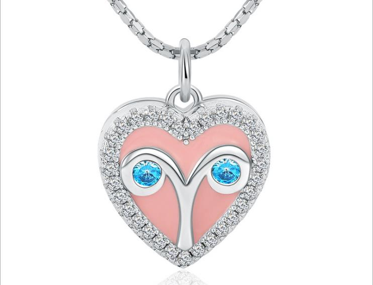 925 sterling silver photo charm heart shaped - Xingjewelry