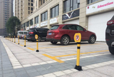 Manual handle parking post bollard parking space blocker parking poller parking lot lock sign with key lock security parking /NO PARKING SIGN BOARD