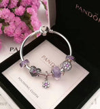 Authentic pandora bracelet with 6 pcs charms - Xingjewelry