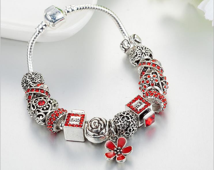 red diamond charm bracelet - Xingjewelry