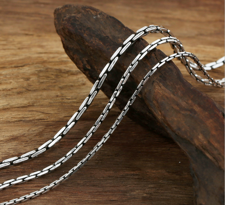 sterling silver simple necklace