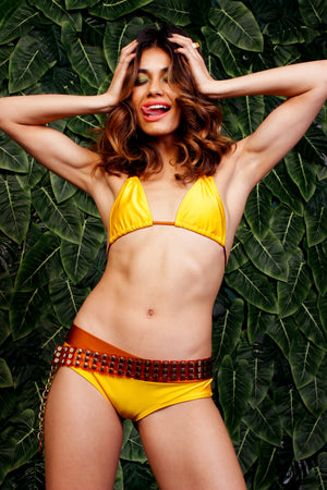 Heatwave Double Strap Bikini Top & Low Rise Brazilian Bottoms