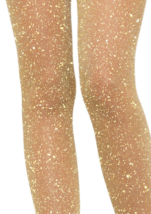 Tights in Gold Glitter