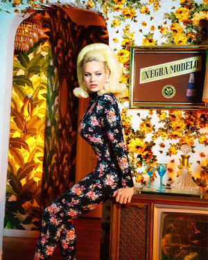 Mona Lisa Vito Floral Catsuit with Zipper Back