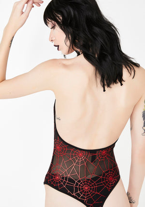Spiderweb Mesh Bodysuit